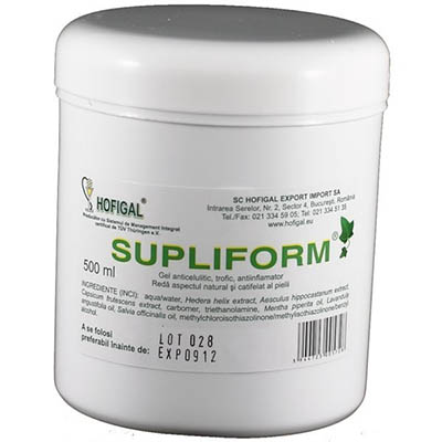 Supliform Gel, gel anticelulitic de la Hofigal
