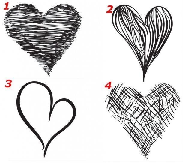 Testul INIMII Modul în care o desenezi te dă de gol