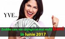 Zodiile care vor câştiga cei mai mulţi bani în iunie 2017