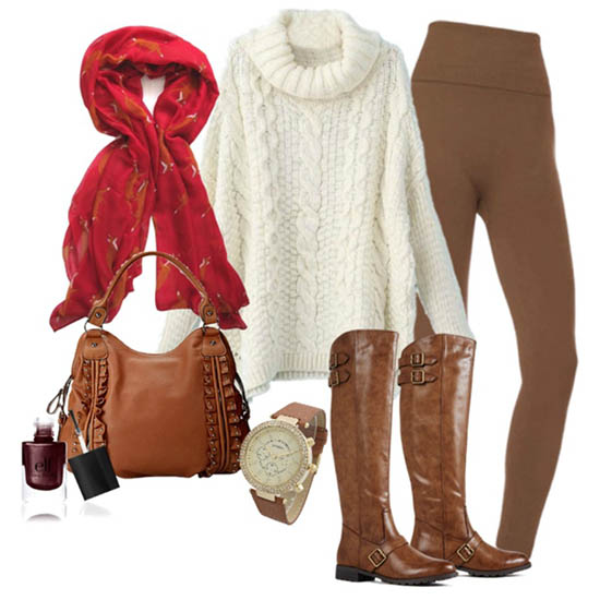 outfit pentru toamna cu haine maro