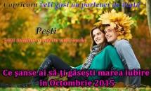 Ce şanse ai să-ţi găseşti marea iubire în Octombrie 2015
