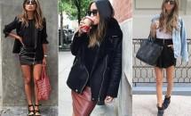 8 moduri in care poti purta cu stil fusta din piele. E vedeta sezonului!