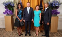 Carmen Iohannis s-a întâlnit cu familia Obama! Vezi ce ţinută a purtat!