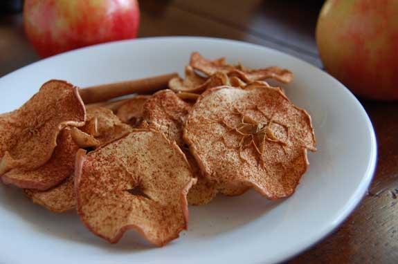 Chipsuri sănătoase din mere aromate