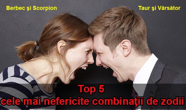 Top 5 cele mai nefericite combinaţii de zodii