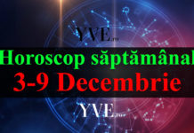 Horoscop săptămânal 3-9 Decembrie 2018
