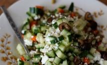 Salată cu linte în stil mediteranean