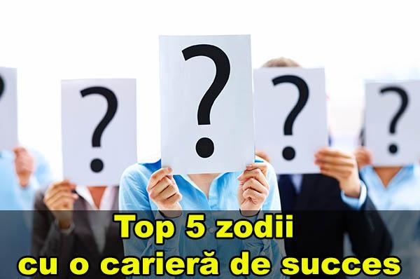 Top 5 zodii cu o carieră de succes