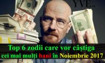 Top 6 zodii care vor câştiga cei mai mulţi bani în Noiembrie 2017