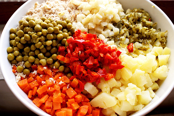 ingrediente salata boeuf