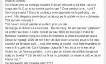 Ozana Barabancea, reacţie controversată după tragicul eveniment din Colectiv!