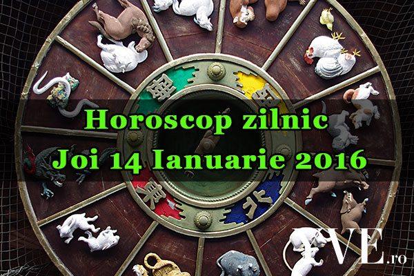 Horoscop zilnic Joi 14 Ianuarie 2016