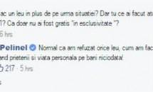 """Valentina Pelinel răspunde acuzaţiilor aduse: """"Nu fac parte dintre cei care profită acum de situație ca să facă un leu în plus""""!"""