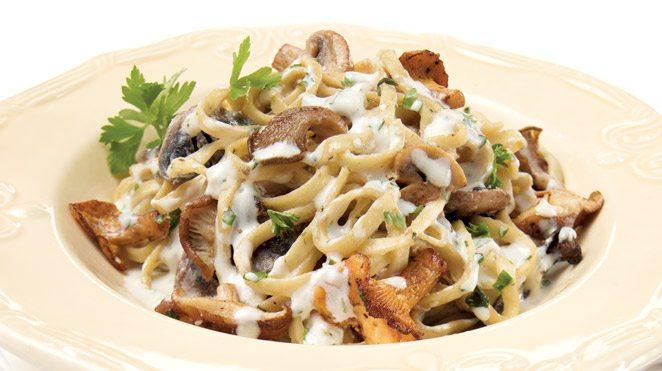 Paste cu ciuperci și Mascarpone