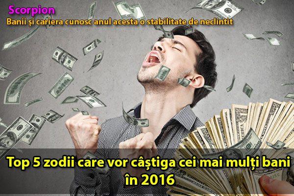 Top 5 zodii care vor câștiga cei mai mulți bani în 2016