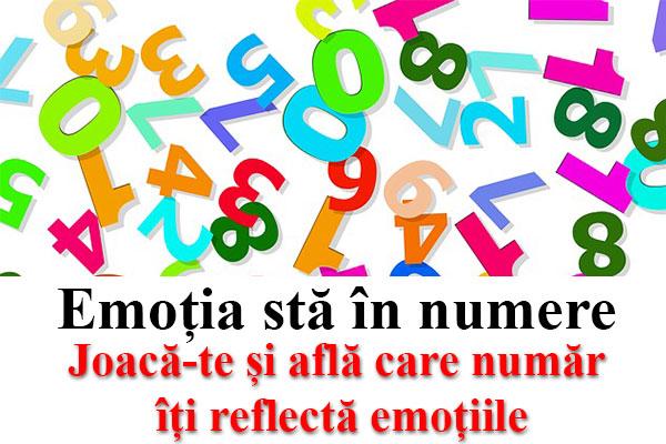 Joacă-te și află care număr îți reflectă emoțiile
