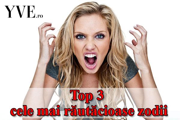 Top 3 cele mai răutăcioase zodii