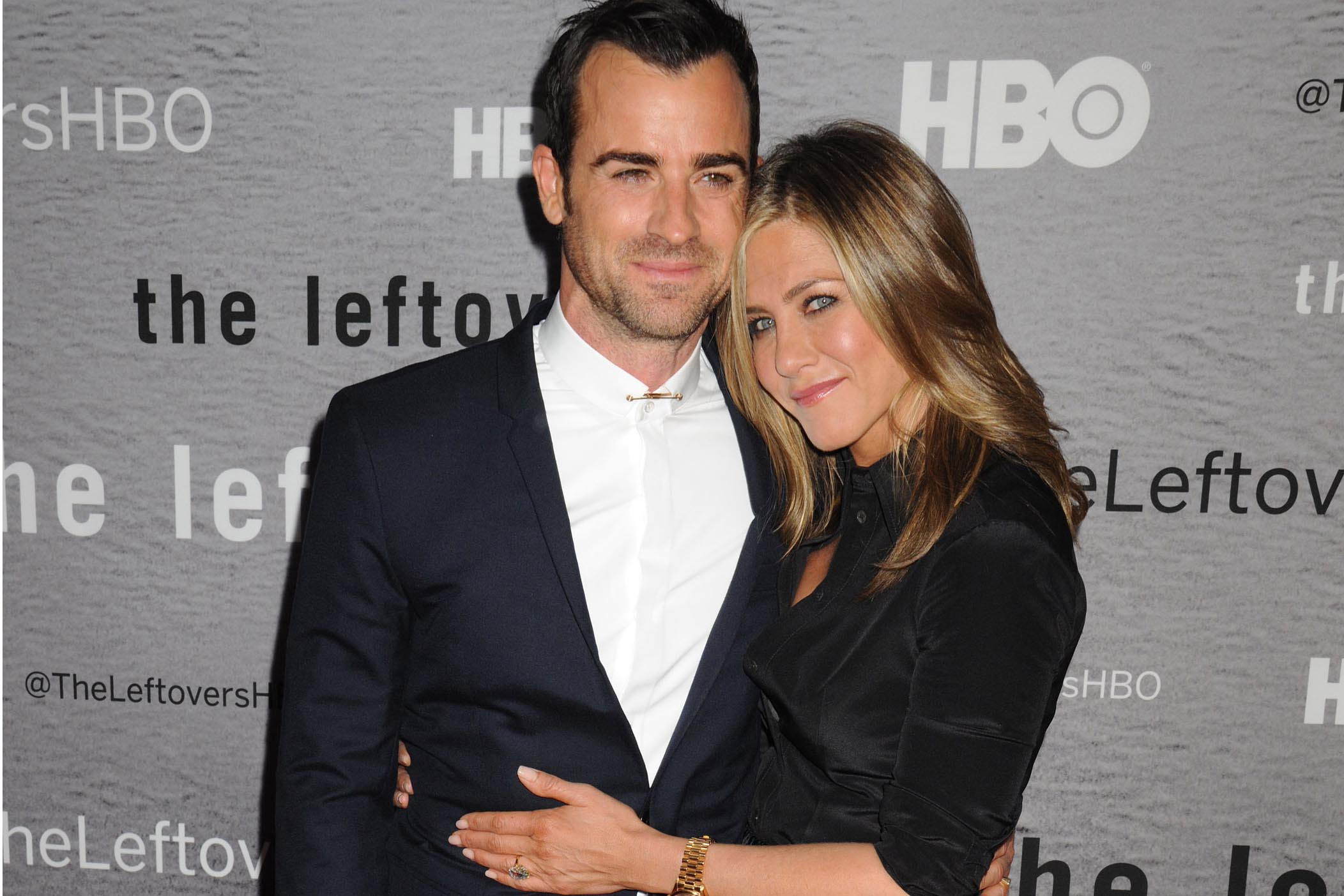 "Consciously coupled lovebirds actors Justin Theroux (star of the series) and Jennifer Aniston arrive for the New York Premiere of HBO's new series ""The Leftovers"", held at the NYU Skirball Center in Greenwich Village in NYC Pictured: Justin Theroux and Jennifer Aniston Ref: SPL786039 230614 Picture by: Johns PKI/Splash News Splash News and Pictures Los Angeles: 310-821-2666 New York: 212-619-2666 London: 870-934-2666 photodesk@splashnews.com"