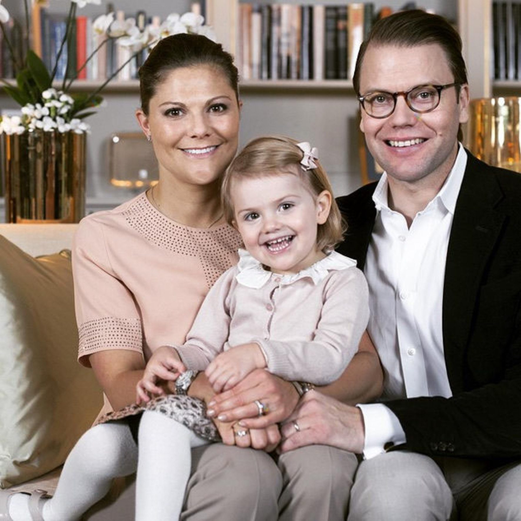 "The Swedish Royals ""Their Royal Highnesses Crown Princess Victoria and Prince Daniel are happy to announce that The Crown Princess is expecting their second child. The birth is expected to take place in March of 2016."" Supplied by Instagram.com/face to face"