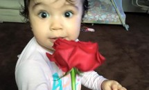 Pepe, un tătic fericit! Uite cât de mare a crescut Rosa!