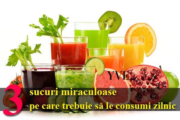 3 sucuri miraculoase pe care trebuie să le consumi zilnic