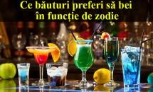 Ce băuturi preferi să bei în funcție de zodie