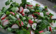 Salată de ridichi și verdețuri