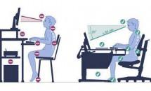 Cum trebuie să ne menținem coloana dreaptă și cum să stăm corect la calculator