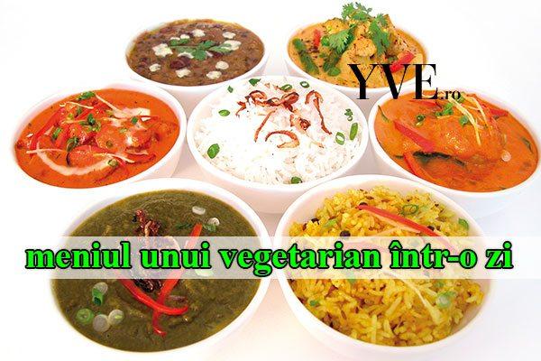 meniul unui vegetarian într-o zi