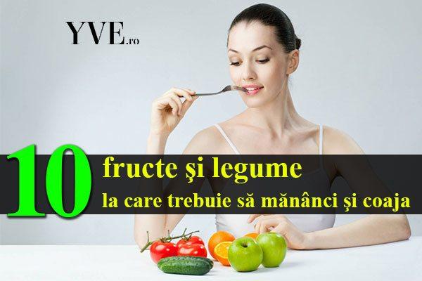 fructe si legume cu coaja