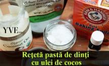 Reţetă pastă de dinţi cu ulei de cocos