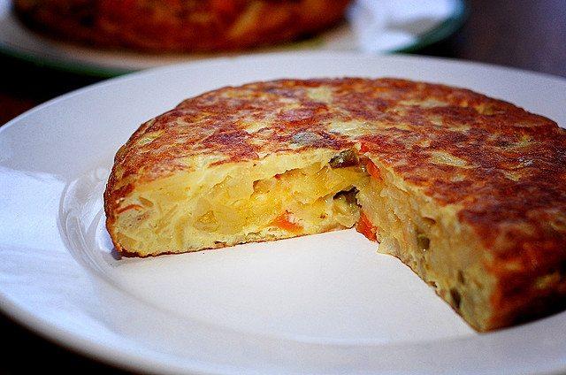 Tortilla din cartofi și ouă