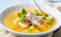 Ciorbă de legume și pește