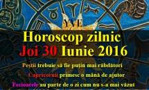 Horoscop zilnic Joi 30 Iunie 2016 – Fecioarele au parte de o zi cum nu s-a mai văzut, Capricornii primesc o mână de ajutor
