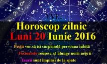 Horoscop zilnic Luni 20 Iunie 2016 – Taurii sunt împinși de la spate, iar Peștii vor să își surprindă persoana iubită.