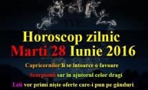 Horoscop zilnic Marti 28 Iunie 2016 – Leii vor primi niște oferte care-i pun pe gânduri, Scorpionii sar în ajutorul celor dragi