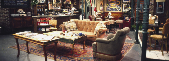 "FRIENDS -- Pictured: Set of Central Perk in ""Friends"" (Photo by Gary Null/NBC/NBCU Photo Bank via Getty Images)"