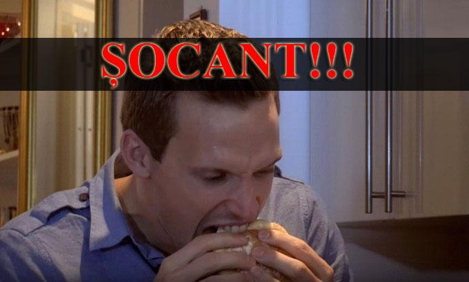 ȘOCANT: Prezentatorul care a mâncat un burger făcut din propria sa carne!