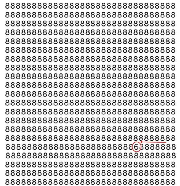 Testează-ți vederea, descoperă cifra 6 din imagine!
