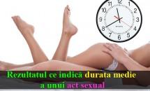 Rezultatul care indică durata medie a unui act sexual. O mulțime de cupluri din întreaga lume s-au cronometrat pentru a contribui la obținerea acestui rezultat!