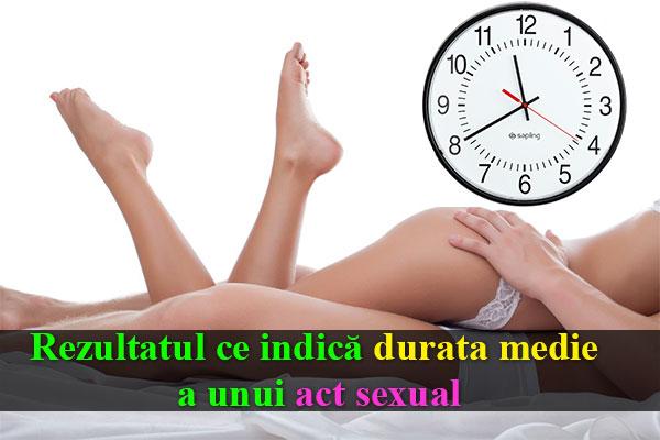 Rezultatul ce indică durata medie a unui act sexual