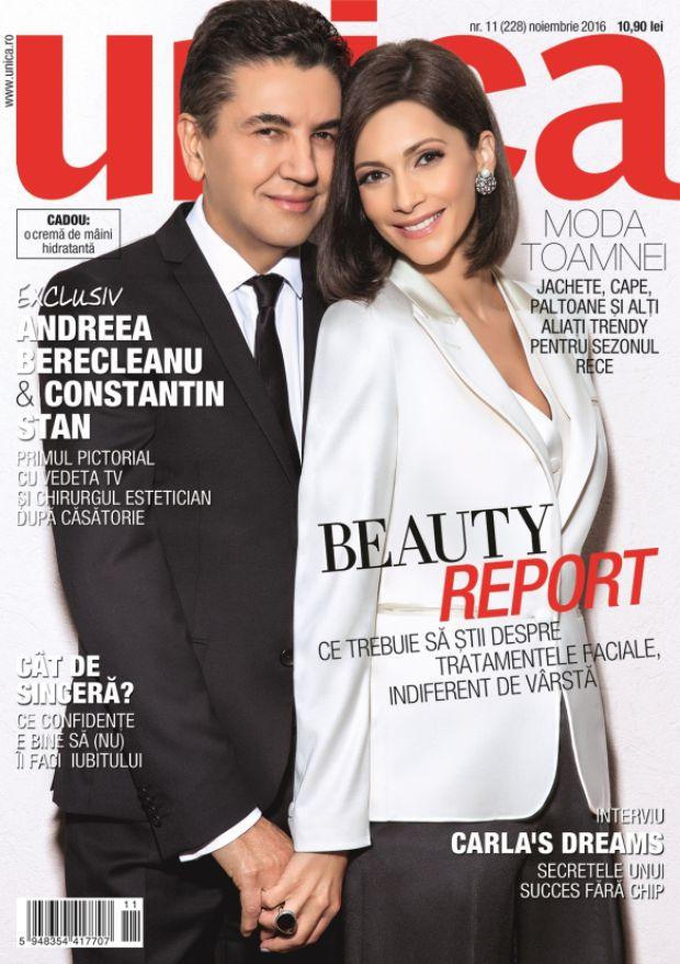 Andreea Berecleanu și Constantin  Stan, fotografie de colecție! Cei doi au apărut deja pe coperta unei reviste!
