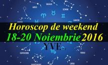 Horoscop de weekend 18-20 Noiembrie 2016