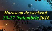 Horoscop de weekend 25-27 Noiembrie 2016