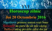 Horoscop zilnic Joi, 20 Octombrie 2016
