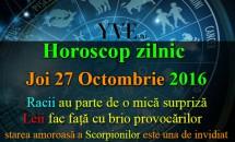 Horoscop zilnic Joi, 27 Octombrie 2016 - Racii au parte de o mică surpriză