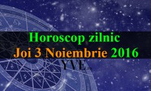 Horoscop zilnic Joi, 3 Noiembrie 2016