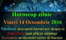 Horoscop zilnic Vineri, 14 Octombrie 2016 - Fecioarele au un motiv serios de bucurie
