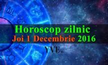 Horoscop zilnic Joi, 1 Decembrie 2016