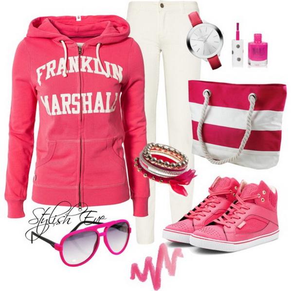 tinuta sport roz